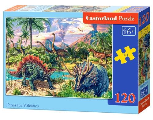 Puzzle Dinosaur Volcanos 120 elementów (Uszkodzone opakowanie)