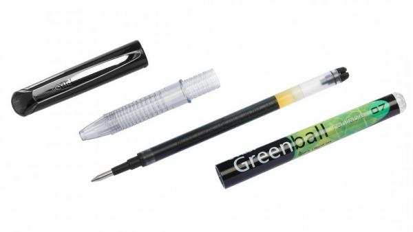 Pióro kulkowe z płynnym tuszem Pilot Greenball Begreen - czarne (BL-GRB7-B-BG)