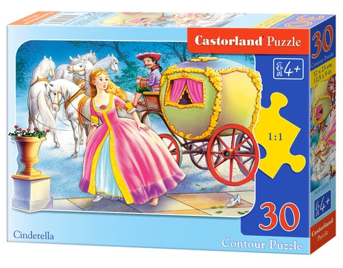 Puzzle konturowe 30: Cinderella (03235)