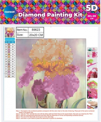 Mozaika diamentowa 5D 20x20cm Flower 89623
