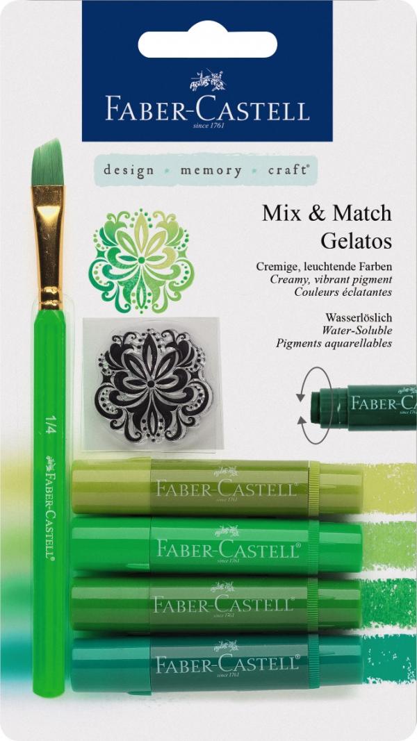 Kredki akwarelowe Faber Castell, odcienie zielone (121804)
