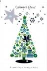 Karnet świąteczny świecki BN B6 Glamur    MIX  ARTIS-COLLAGE