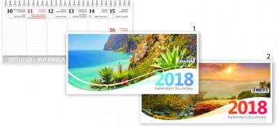 Kalendarz biurkowy poziomy mały AB5 MIX .