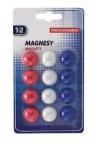 Magnesy memoboards do tablic 12szt (MB20B12 NR)