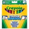 Markery Crayola do białej tablicy, 8 kolorów (8223)