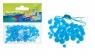 Ozdoba dekoracyjna koraliki niebieskie 80el