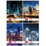 Zeszyt A5/60k w kratkę - City Lights (9567231)