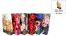 Torebka laminowana jumbo kwiaty 33x46x10  mix 12 szt