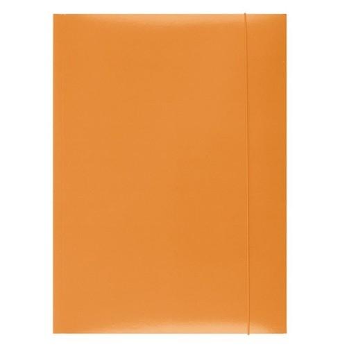 Teczka z gumką lakierowana A4 pomarańczowa 50 sztuk (21191131-07)