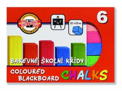 Kreda kolorowa Fluorescencyjna do tablic 6 kolorów