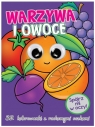 Kolorowanka z oczkami. Warzywa i owoce