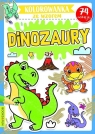 Dinozaury. Kolorowanka ze wzorem