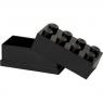 Minipudełko klocek LEGO 8 - Czarne (40121733)