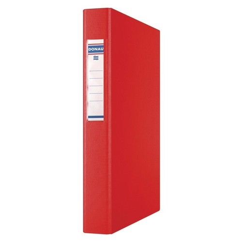 Segregator ringowy Donau PP A4/4R/25mm czerwony (3735001PL-04)