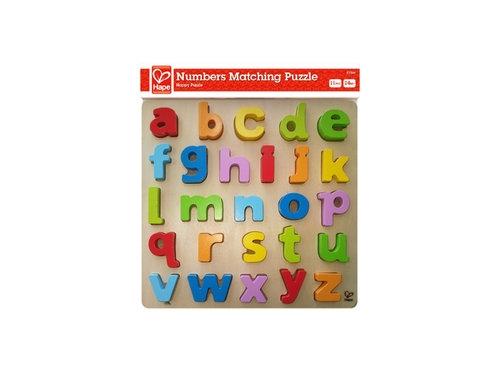 Małe litery puzzle drewniane (E1503)