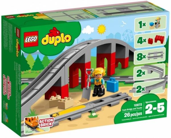 Lego Duplo: Tory kolejowe i wiadukt (10872)