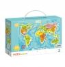 Puzzle 100: Mapa świata (DOP300123)