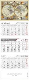 Kalendarz 2020 Trójdzielny Antyczna Mapa CRUX