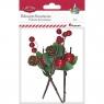Ozdoba świąteczna Titanum Craft-Fun Series Gałązki dzikiej róży z szyszką (20625)