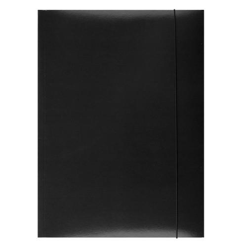 Teczka z gumką Office A4 czarna (21191131-05)