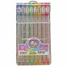 Długopisy żelowe brokatowe M&G 8 kolorów