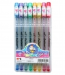 Długopisy żelowe brokatowe 1,0 mm - 8 kolorów (MG AGP13174 SB8)