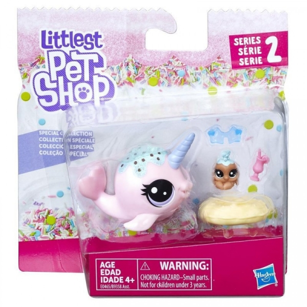 Figurki Littlest Pet Shop Para zwierzaków Ambrosia Narwhalz & Cannoli Crabbley (B9358/E0465)
