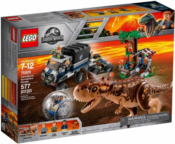Lego Jurassic World: Ucieczka przed karnotaurem (75929)