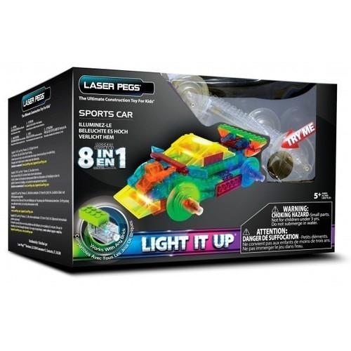 Klocki Laser Pegs 8w1 wyścigówka świecące (PB1410B)