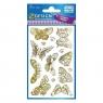 Naklejki papierowe - Pozłacane motyle (57024)