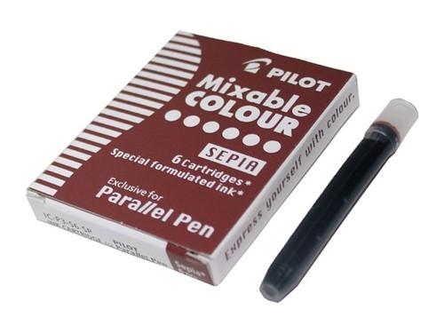 Naboje do pióra Pilot Parallel Pen sepia 6 szt. (IC-P3-S6-SP)