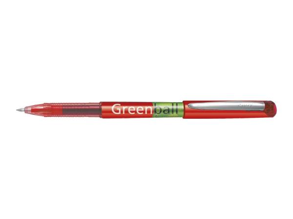 Pióro kulkowe z płynnym tuszem Pilot Greenball Begreen - czerwone (BL-GRB7-R-BG)
