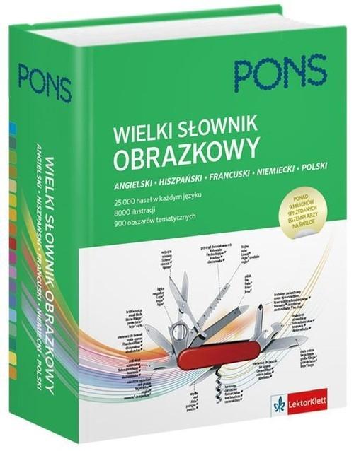 Wielki słownik obrazkowy angielski hiszpański francuski niemiecki polski (Uszkodzona okładka)