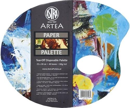 Paleta papierowa owalna 25x30 40 arkuszy