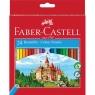 Zestaw kredek sześciokątnych zamek 24 kolory (111224)