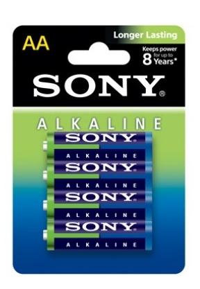 Baterie. 4x bateria alkaliczna. Sony blue LR6/AA