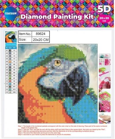 Mozaika diamentowa 5D 20x20cm Parrot 89624
