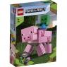 Lego Minecraft: Minecraft BigFig - Świnka i mały zombie (21157) Wiek: 7+