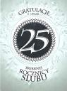 Karnet 25 rocznica ślubu RS0225 RS0225