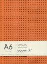 Notatnik A6 Paper-oh Circulo Orange on Grey w linie