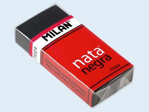 Gumki Milan czarne 24 sztuki