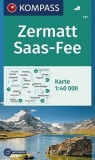 Zermatt Saas-Fee 1:40 000 Kompass praca zbiorowa