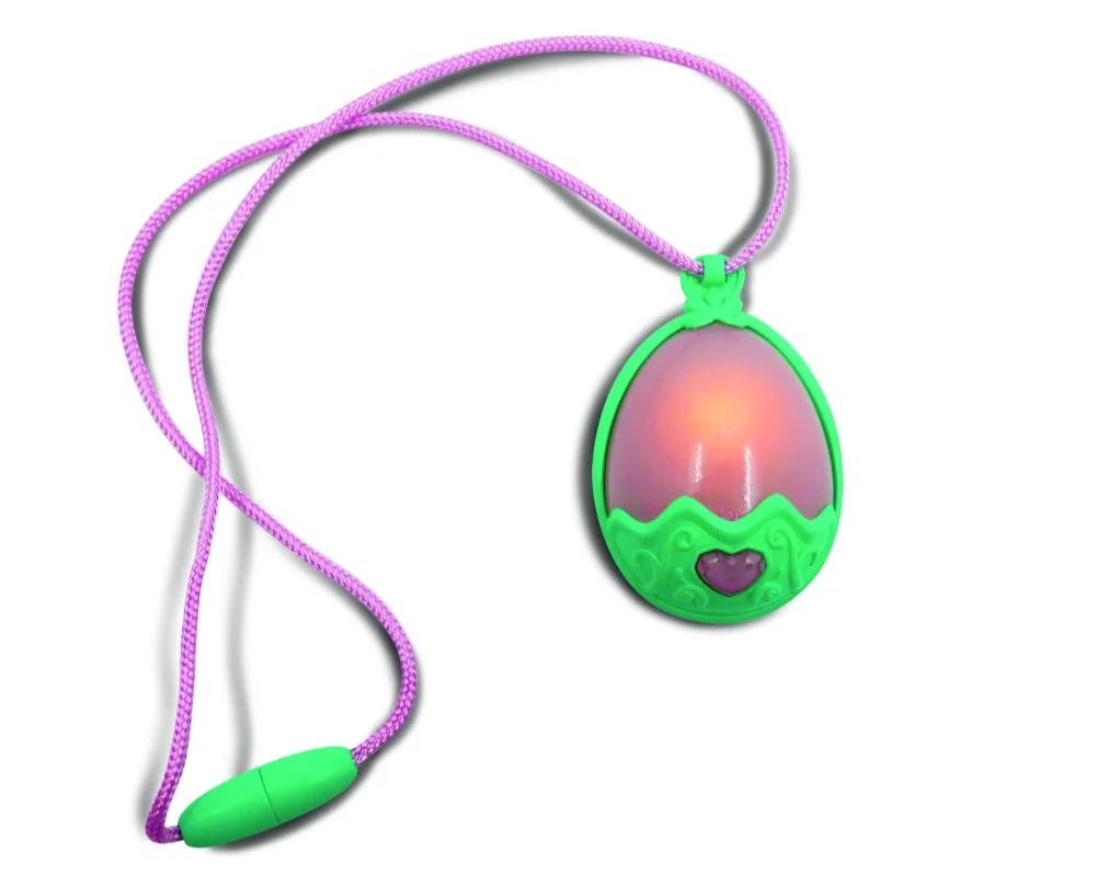 Smoczusie: Moc Kryształów - Plusz w jajku Crimson 26 cm ze świecącym naszyjnikiem (EP04111)