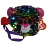 TY Fashion - cekinowa torba na nadgarstek Lampart (95224)