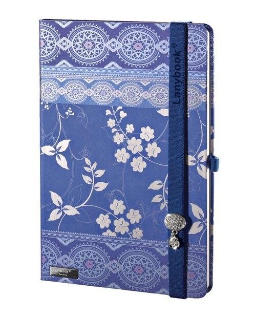 Notes A6 Lanybook Oriental Dream w kratkę niebieski