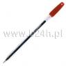 Pióro żelowe GZ-31 przeźroczyste czerwone