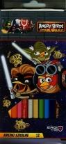 Kredki trójkątne 12 kolorów Angry Birds Star Wars