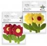 Filcowe kwiatki z łodygą 3D mix 3szt