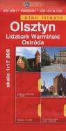 Olsztyn Lidzbark Warmiński Ostróda Plan miasta 1:17000