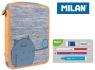 Piórnik Milan 1-poziomowy duży z wyposażeniem MIMO pomarańcz